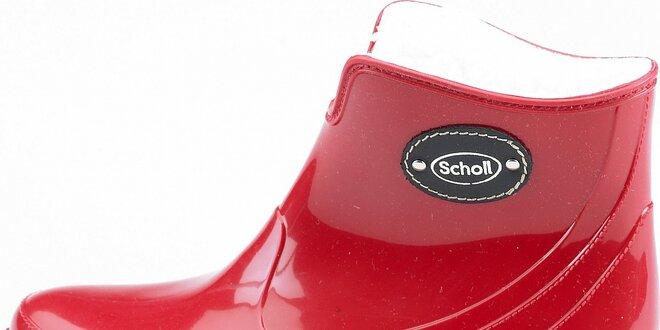 22ba746846da Dámske červené kotníkové čižmy Dr. Scholl s kožúškom