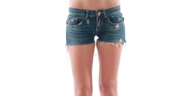 Dámske tmavé džínsové šortky Fornarina