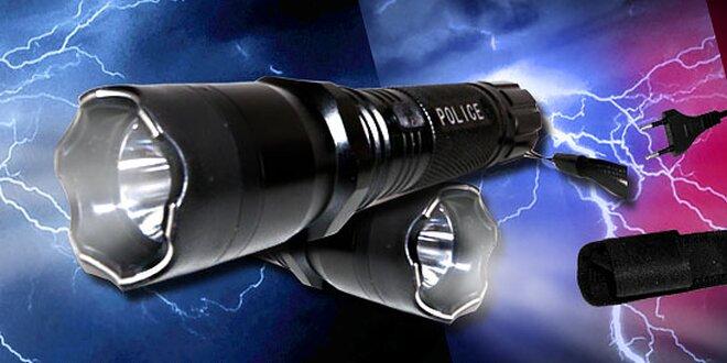 Extra žiarivá policajná SWAT baterka alebo policajná baterka s paralyzérom