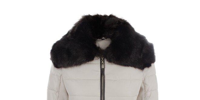 Dámska prešívaná béžová bunda s opaskom PINKLINE Love & Passion
