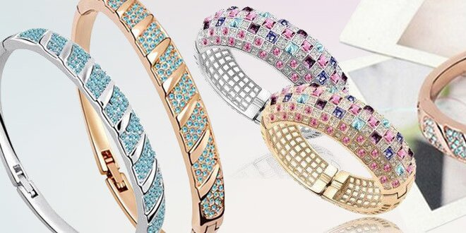 Elegantné náramky so Swarovski elements