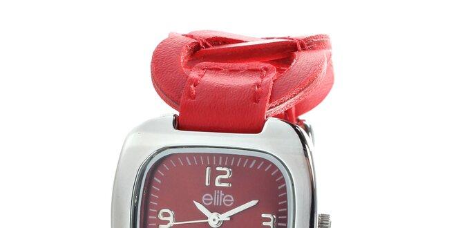 Dámske hodinky s tmavo hnedým krúžkovým remienkom Elite