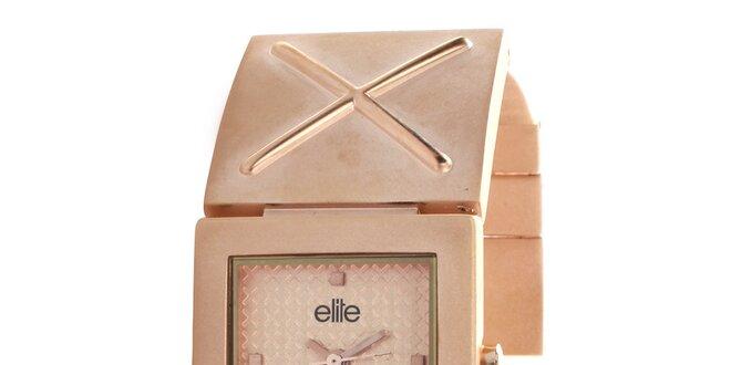 Dámske hodinky so štvorcovým ciferníkom Elite