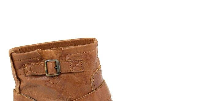475e6cfb2b Dámske hnedé členkové topánky Nina Morena