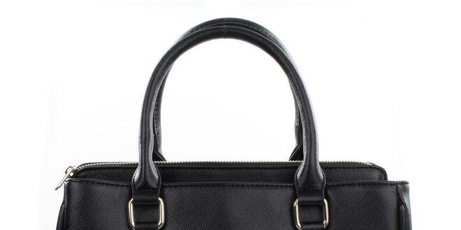 Dámska čierna kabelka s odopínacím popruhom Gessy