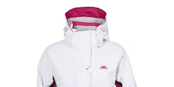 57d7dadd7 Dámska biela lyžiarska bunda s kapucňou Trespass | Zlavomat.sk