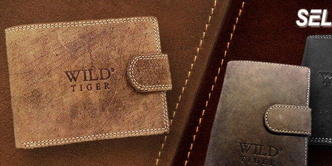 Elegantné kožené peňaženky WILD Tiger