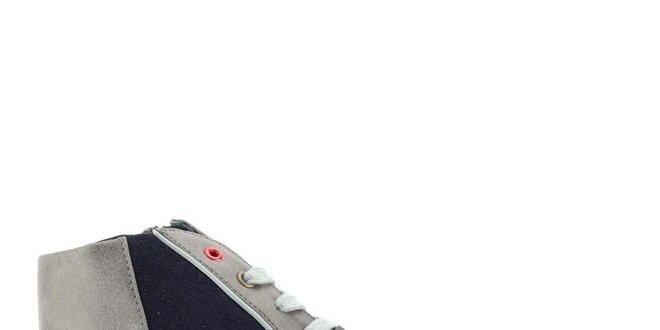 Dámske šedo-modré členkové tenisky Tommy Hilfiger  15f40a9880e