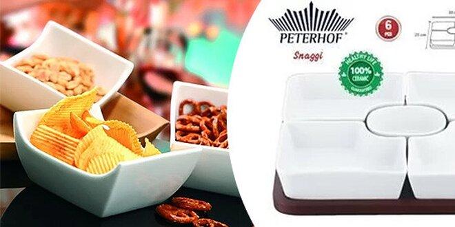 6-dielna exkluzívna keramická súprava pre podávanie sladkých či slaných…
