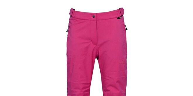 e5d4f8ae98d3 Dámske tmavo ružové lyžiarske nohavice s membránou Bergson