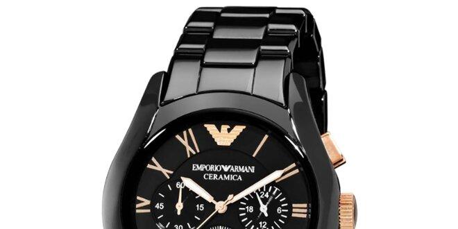 e0c0f8ab7 Pánske čierne keramické hodinky Emporio Armani | Zlavomat.sk
