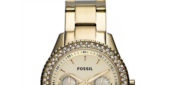 Dámske hodinky z pozlátenej ušľachtilej ocele Fossil