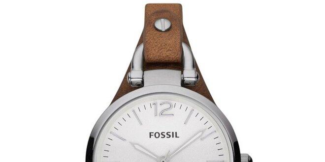 Dámske hodinky s koženým remienkom Fossil