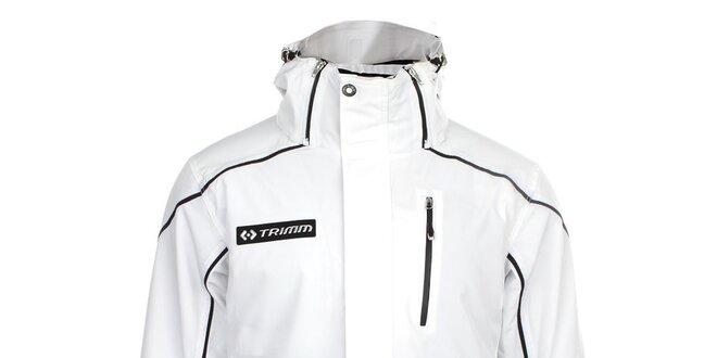 288bee3c1 Pánska biela lyžiarska bunda s čiernymi prvkami Trimm | Zlavomat.sk