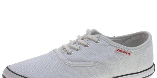 7877e963c6 Dámske biele plátené tenisky Beppi