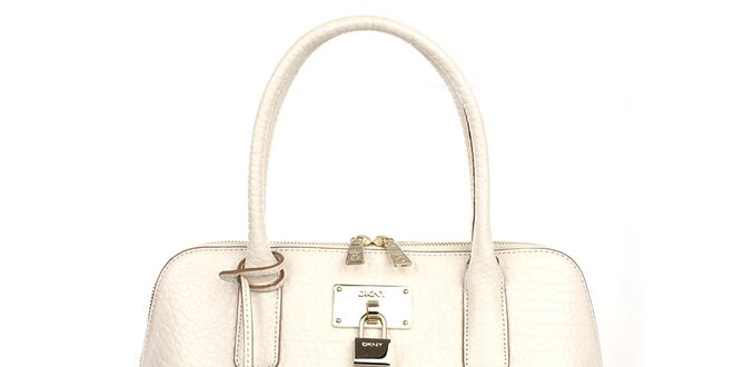Dámska kožená kabelka vo farbe slonovej kosti DKNY  70f7bfbb51