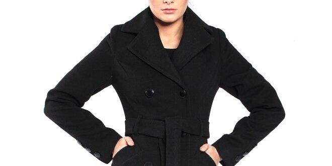 Dámsky čierny kabát Vera Ravenna  71c55cc3a25