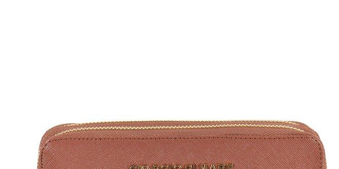 Dámska hnedá peňaženka so zipsami Giorgio di Mare