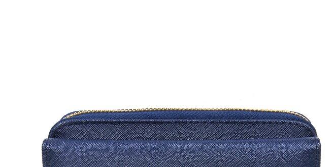 Dámska tmavo modrá peňaženka so zlatým zipsom Giorgio di Mare