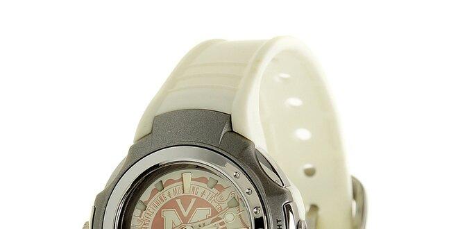 Dámske biele hodinky Mustang so silikonovým remienkom  cb9e46b18e