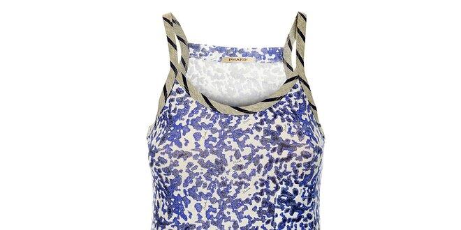 Dámsky modro-biely top na ramienka Phard