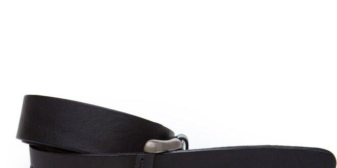 Dámsky čierny kožený opasok Sisley
