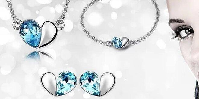 Krásna súprava šperkov so Swarovski Elements