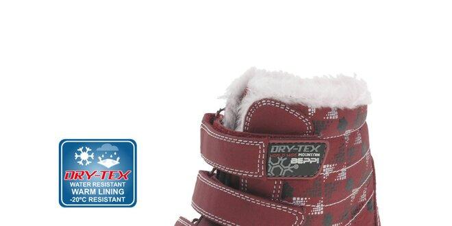 cb4e47550d7f Detské červené zimné topánky Beppi