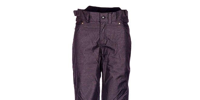 Dámske tmavo šedé melírované športové nohavice Fundango s membránou