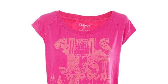 Dámske ružové tričko s potlačou