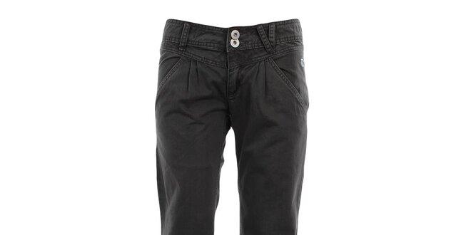 Dámske šedo-zelené voľné nohavice Fundango