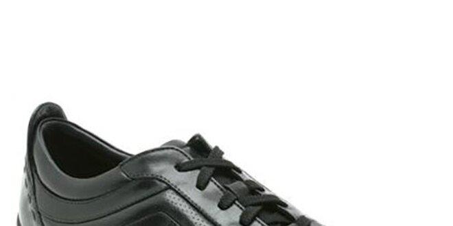 a8c7199a5530 Pánske čierne kožené topánky so šnúrkami Clarks