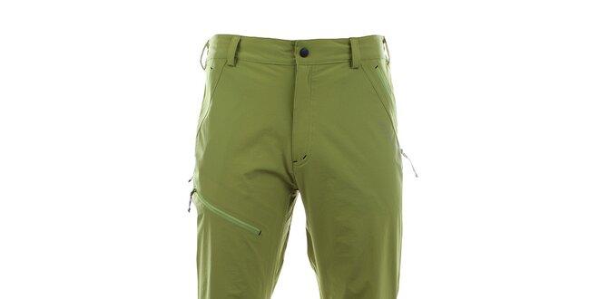 a347ca6471da Pánske svetlo zelené funkčné nohavice Trimm