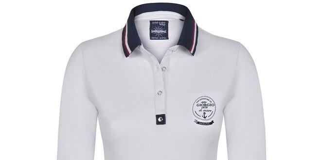 2fa8128b8951 Dámske polo tričko v biele farbe Giorgio di Mare