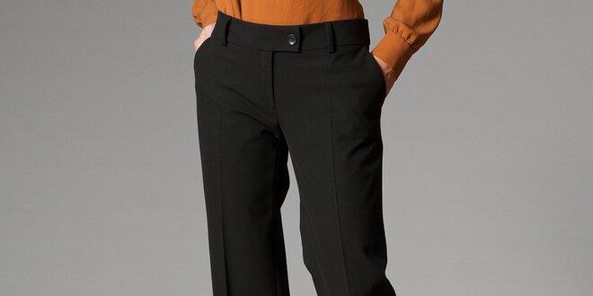 aeccc1950f50 Dámske čierne nohavice s pukmi Pietro Filipi