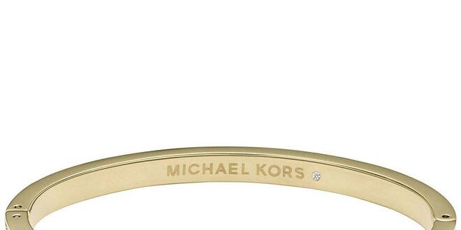 6c6441a74 Dámsky oceľový náramok s kryštálikmi Michael Kors - zlatá farba ...