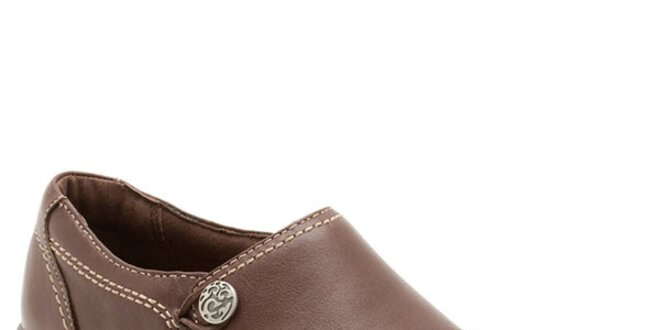 ef7486d868bf Dámske hnedé kožené topánky s prešívaním Clarks