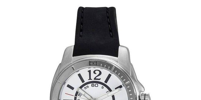 99de1dae2779 Dámske oceľové hodinky s čiernym silikónovým remienkom Tommy Hilfiger