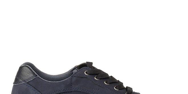 Pánske modré kožené tenisky Crash Shoes  af9a4d0f2dd