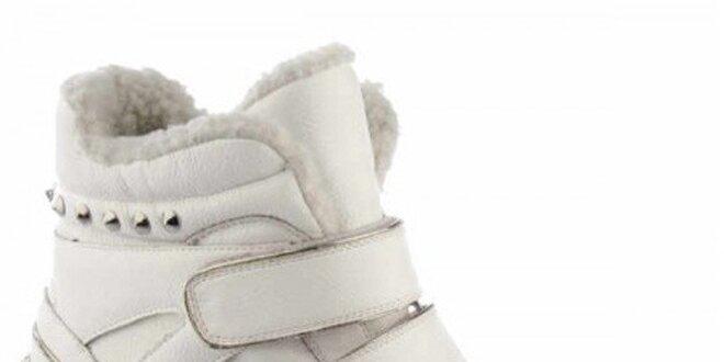 a1aa0598a8 Dámske biele členkové tenisky na platforme Keddo