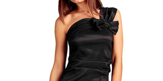 6d20e472f Dámske čierne šaty s mašľou Vera Fashion | Zlavomat.sk