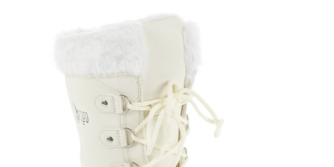b238ac44b398 Dámske biele zimné čižmy Vertigo