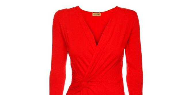 Dámske červené zavinovacie šaty Comptoir des Parisiennes  d1215bcad78
