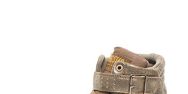Dámske bronzovo-hnedé členkové tenisky Big Star