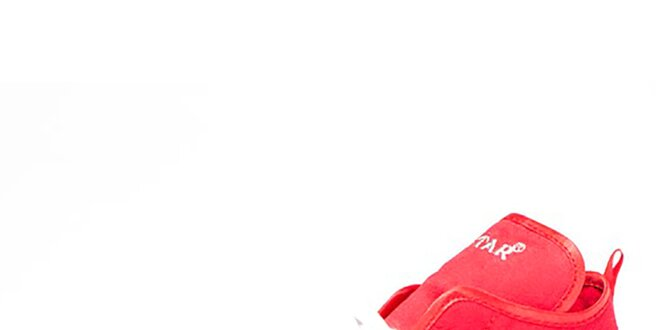 Dámske červené členkové tenisky Big Star