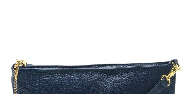595c80309b Dámska tmavo modrá listová kabelka s popruhom Carla Ferreri ...