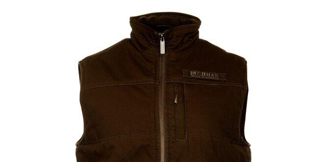 9c13392b9db Pánska tmavo hnedá prešívaná vesta Bushman