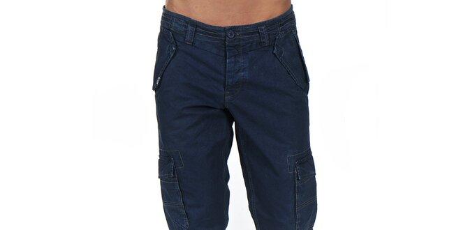 d94ae1cb736f Pánske tmavo modré nohavice s vreckami Giorgio Di Mare