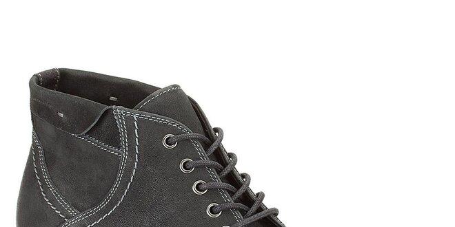 c30f778bf5e5 Pánske čierne kožené prešívané topánky Clarks