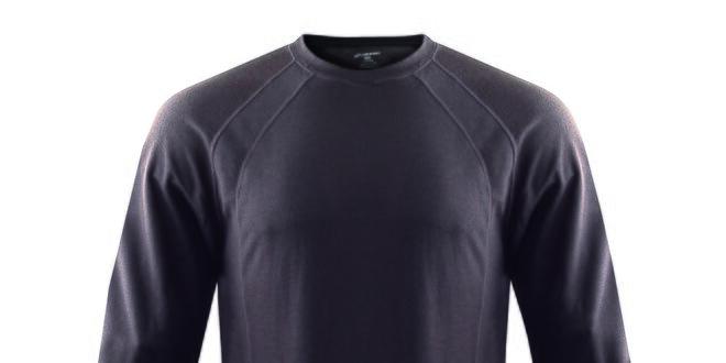 Pánske funkčné antracitové tričko s dlhým rukávom Hannah